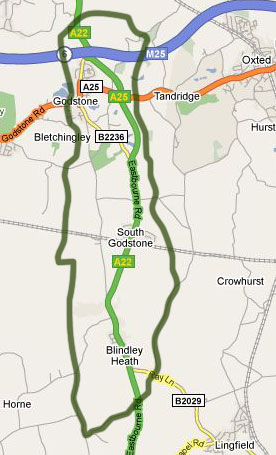 godstone parish map